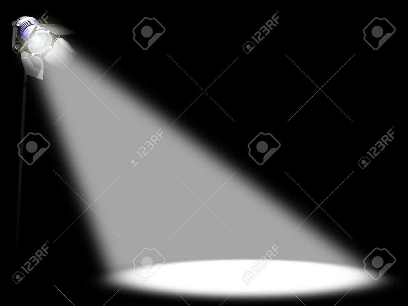 Image concept of something of prominence. You can place any thing in the light. Stock Photo - 1385627