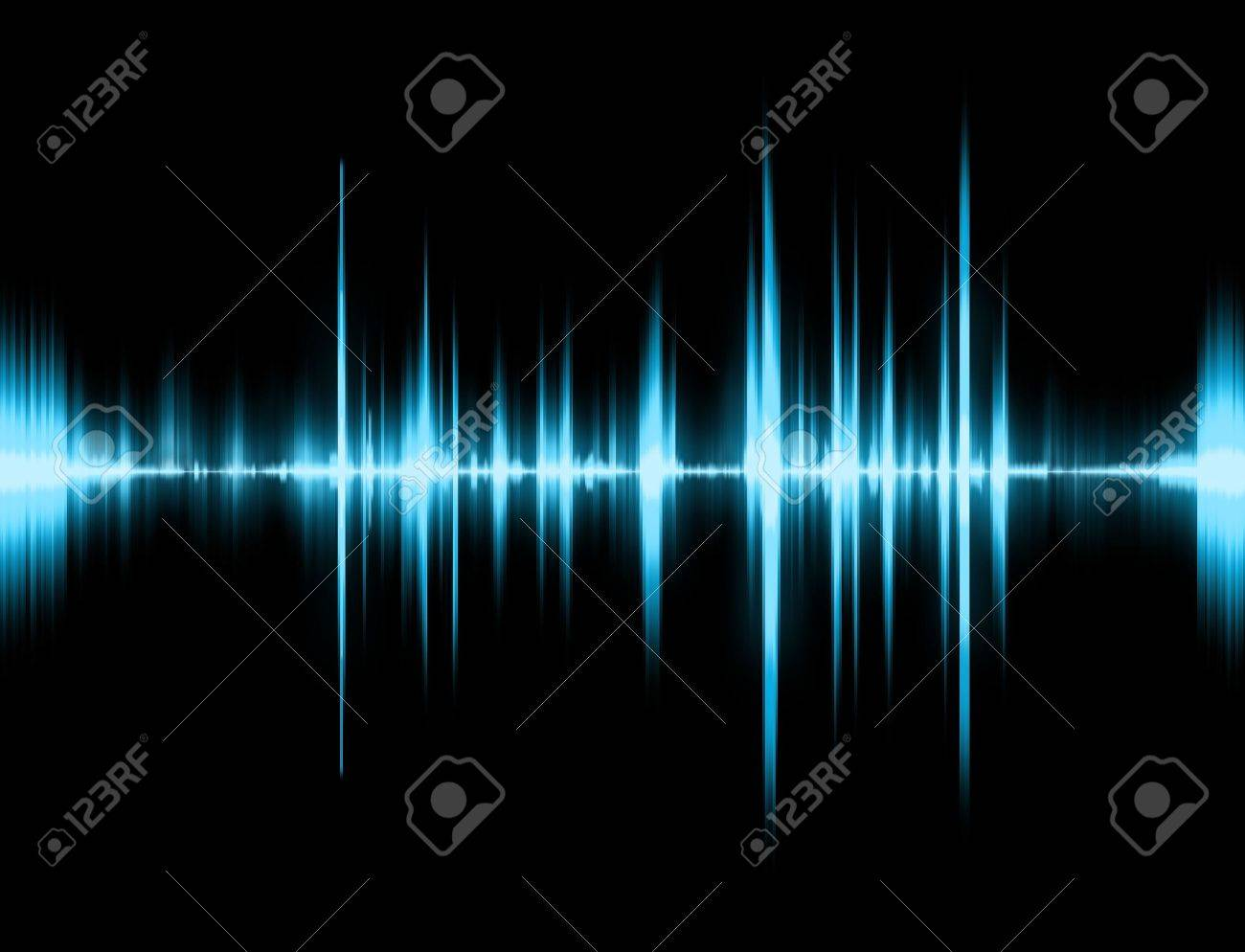 Graphic Of A Digital Sound On Black Bottom Stock Photo, Picture ...