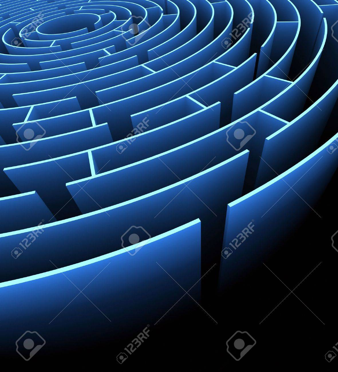 Labyrinth with exit . Concept of finding a way. Stock Photo - 4834487