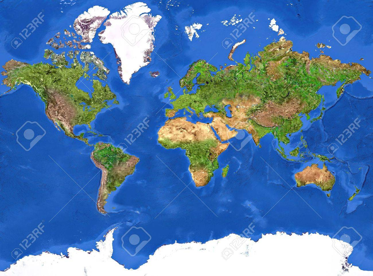 High resolution of the Planet Earth painted texture. - 7005552