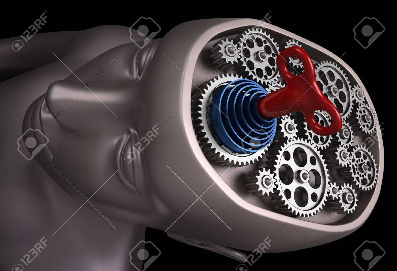 The human brain is a set of gears powered rope. Only with the key of power, energy and motivation, the brain back up and running. - 7393196