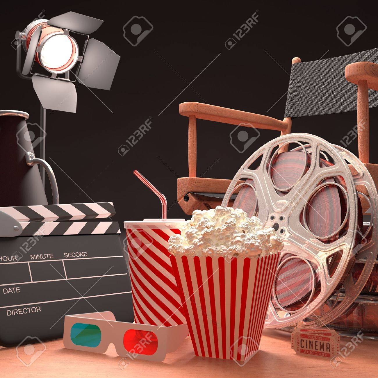 Objects of the film industry, the concept of cinema - 16107185