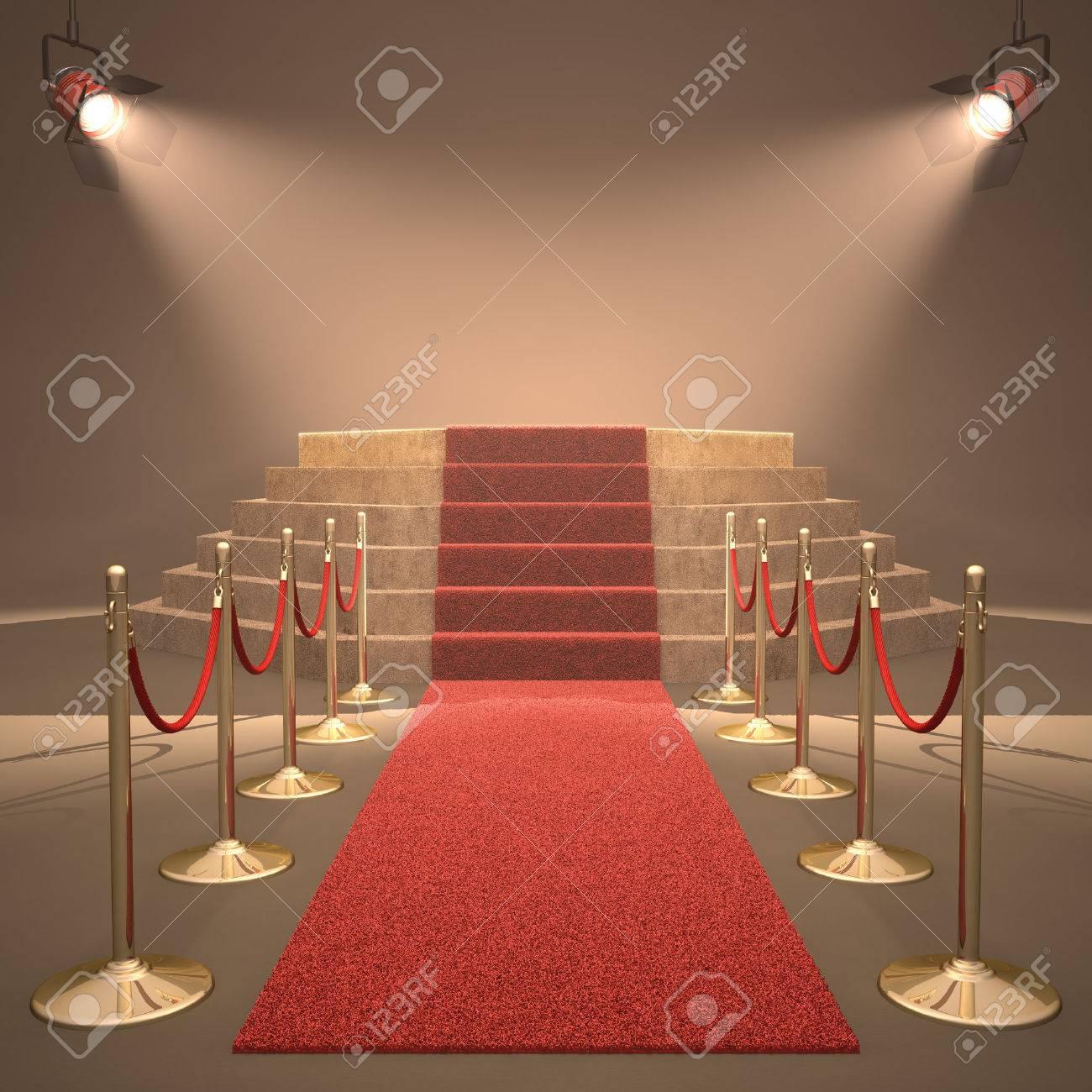 Lights illuminating the podium. Your text in light. - 23009181