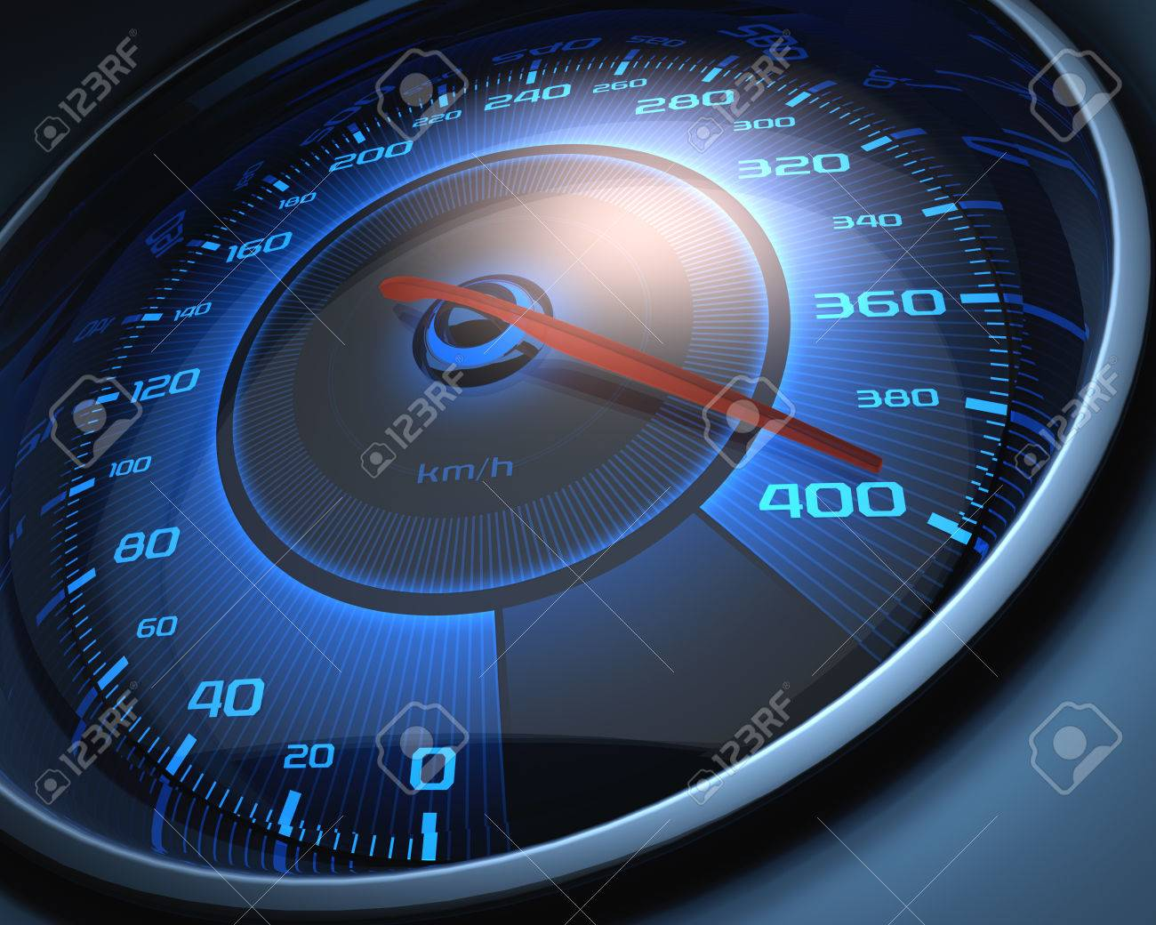 Speedometer scoring high speed. The limit of speed. - 24769082