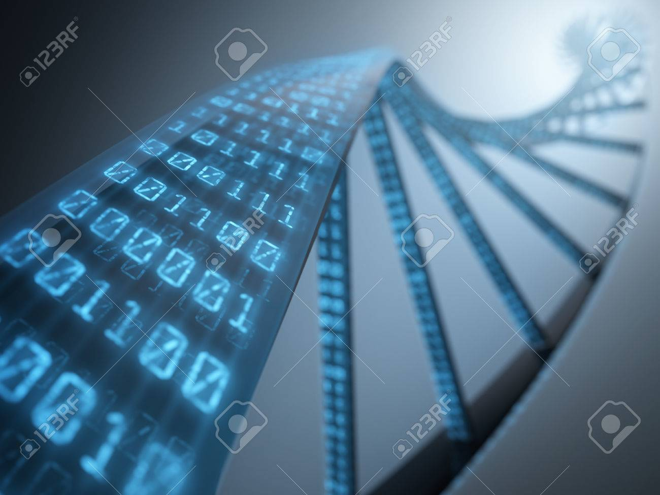 Dna with binary codes. Concept of science technology. - 28487835