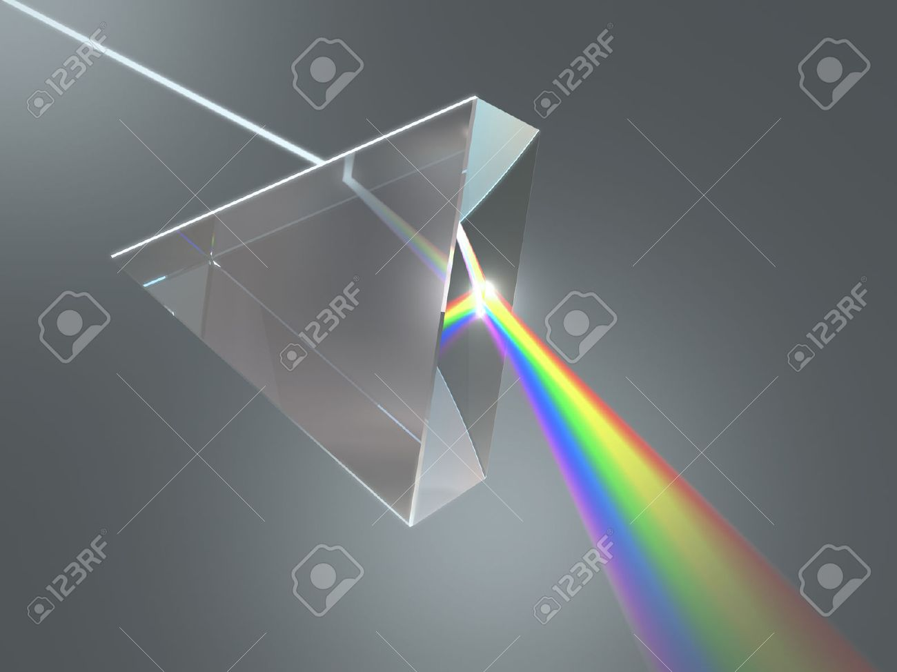 The crystal prism disperses white light into many colors. - 29284464