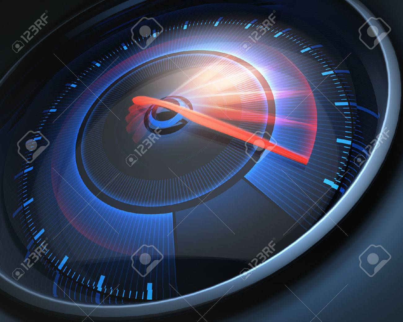 Speedometer scoring high speed, but without indicators numbers. - 46527217