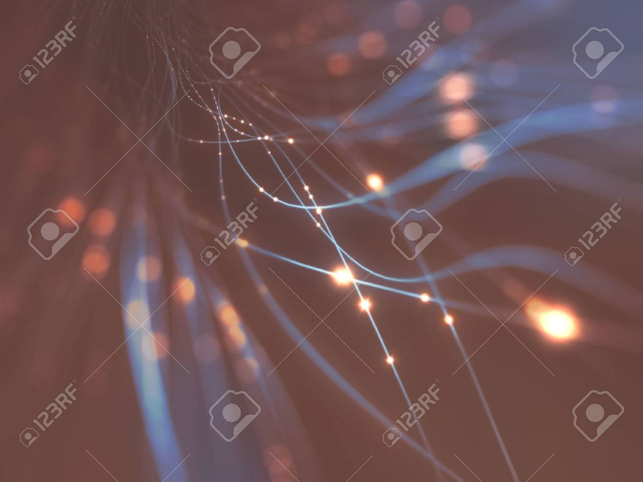 Abstract background in a concept of optical fiber. Clipping path included. Stock Photo - 46574193