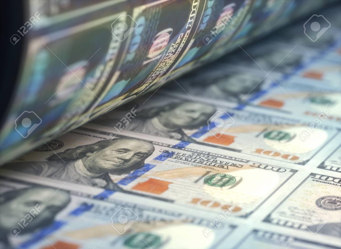 Printing US dollar bills