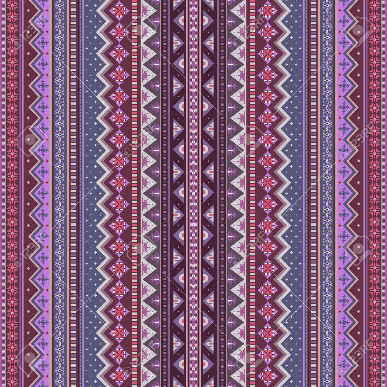 Abstract ethnic stripe pattern, vector background - 151771118