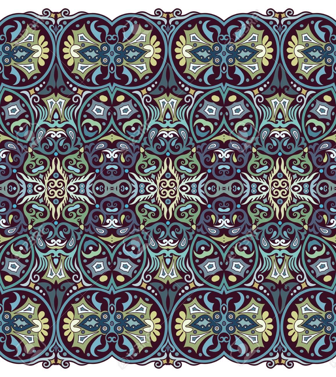 Abstract ethnic nature tile stripe seamless border - 151774601