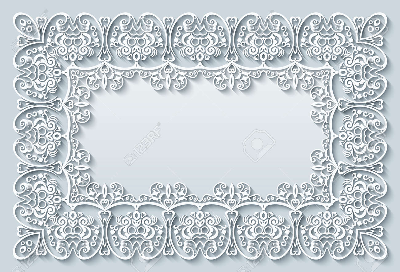 Abstract vector ornamental nature vintage frame. - 151967072
