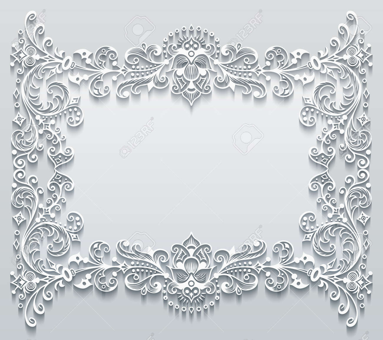 Vector abstract ornamental nature vintage frame. - 151972934