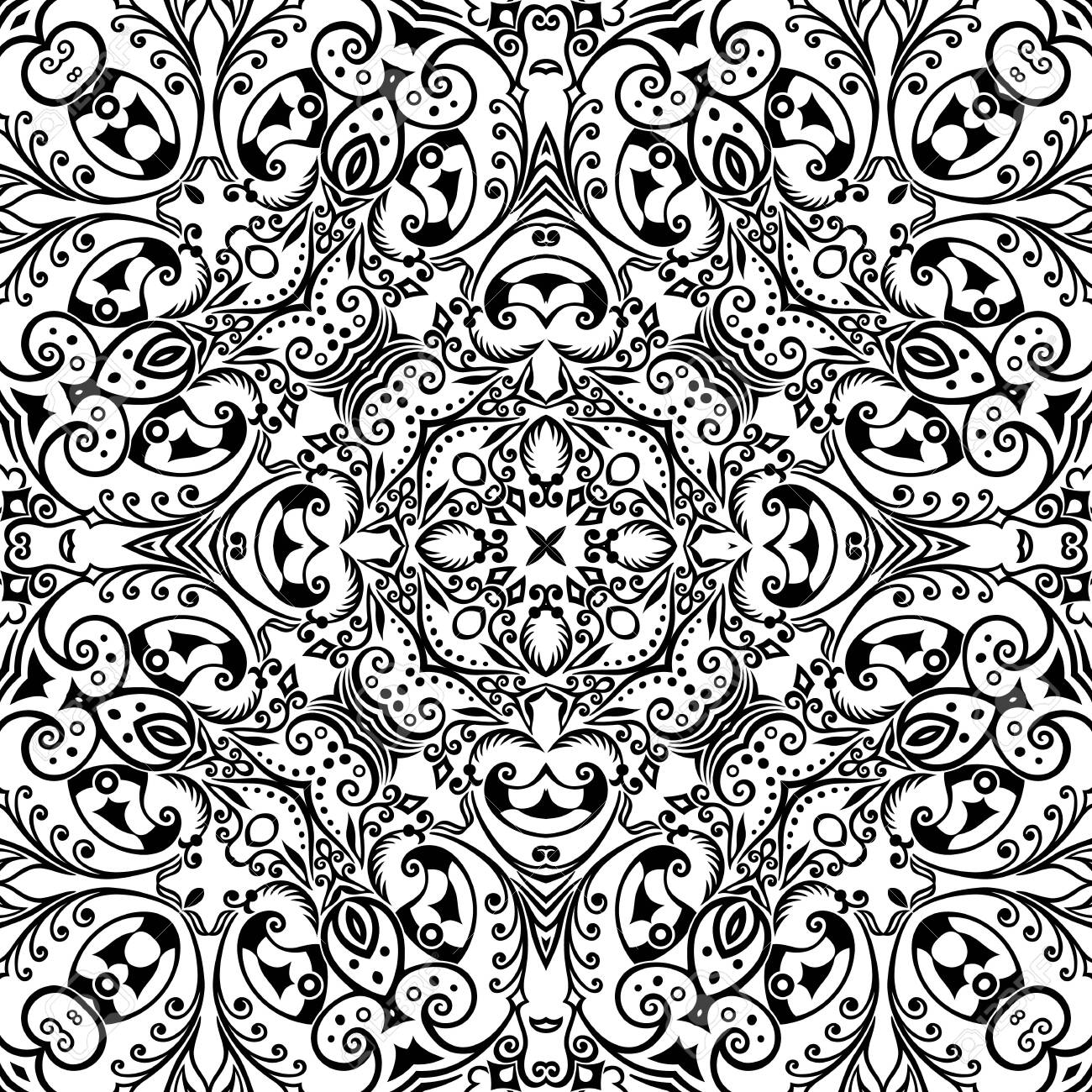 Vector ethnic hand drawn ornamental background. - 152225819