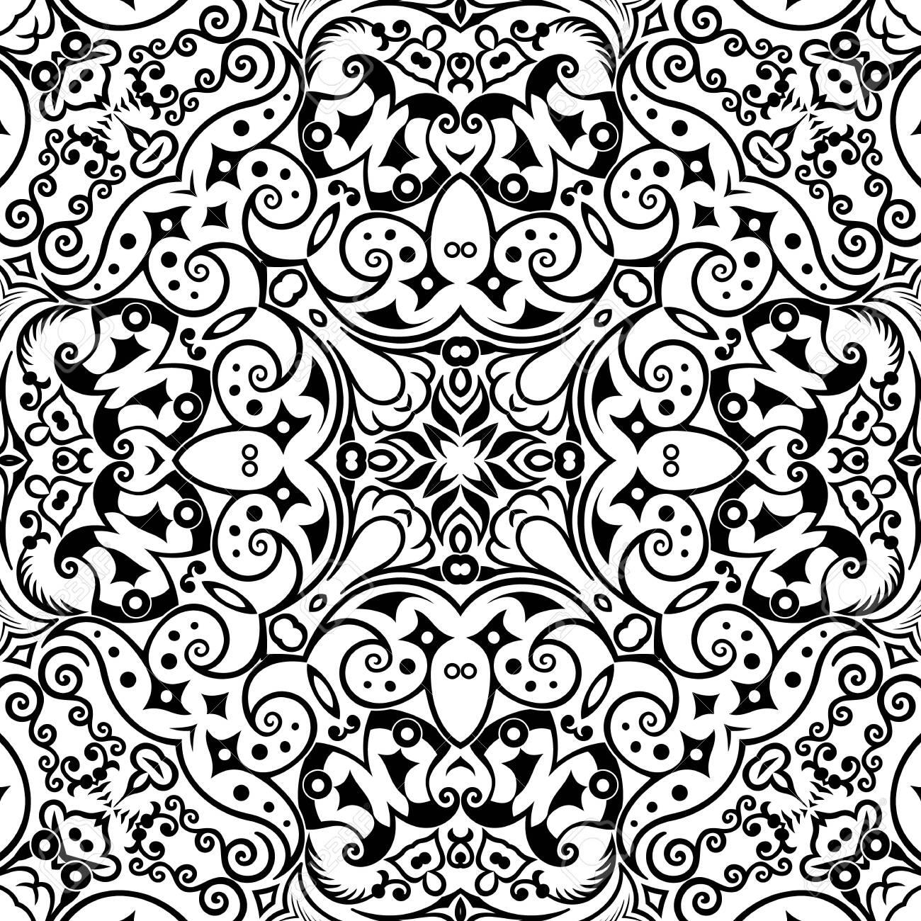 Vector ethnic hand drawn ornamental background. - 152225827