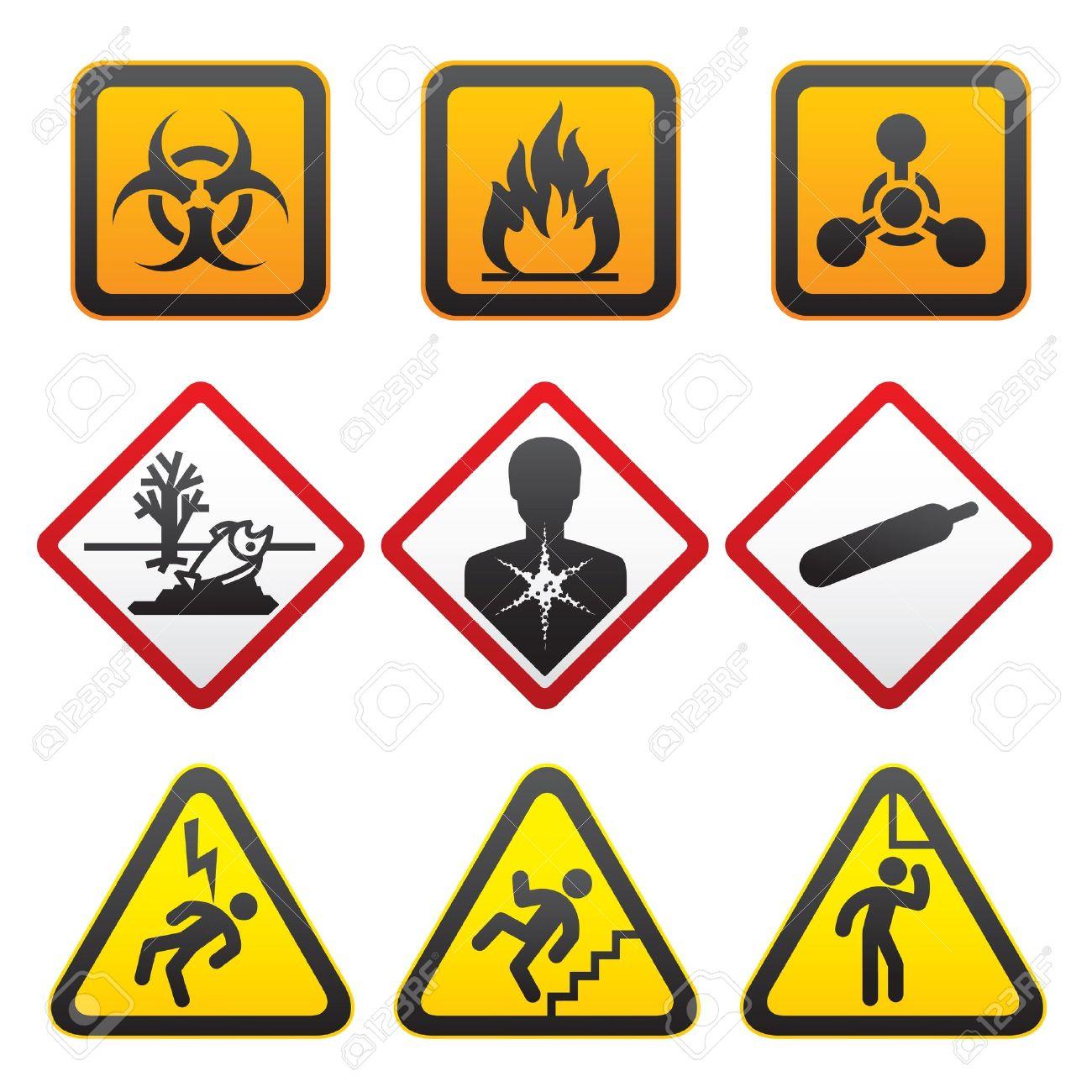 Warning Symbols Hazard