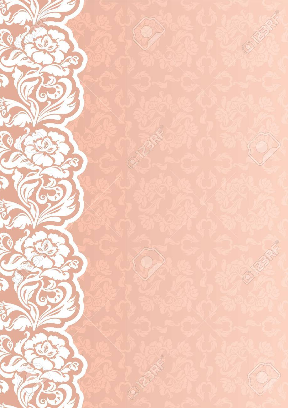 Vector. Flower background with lace Stock Vector - 10572632