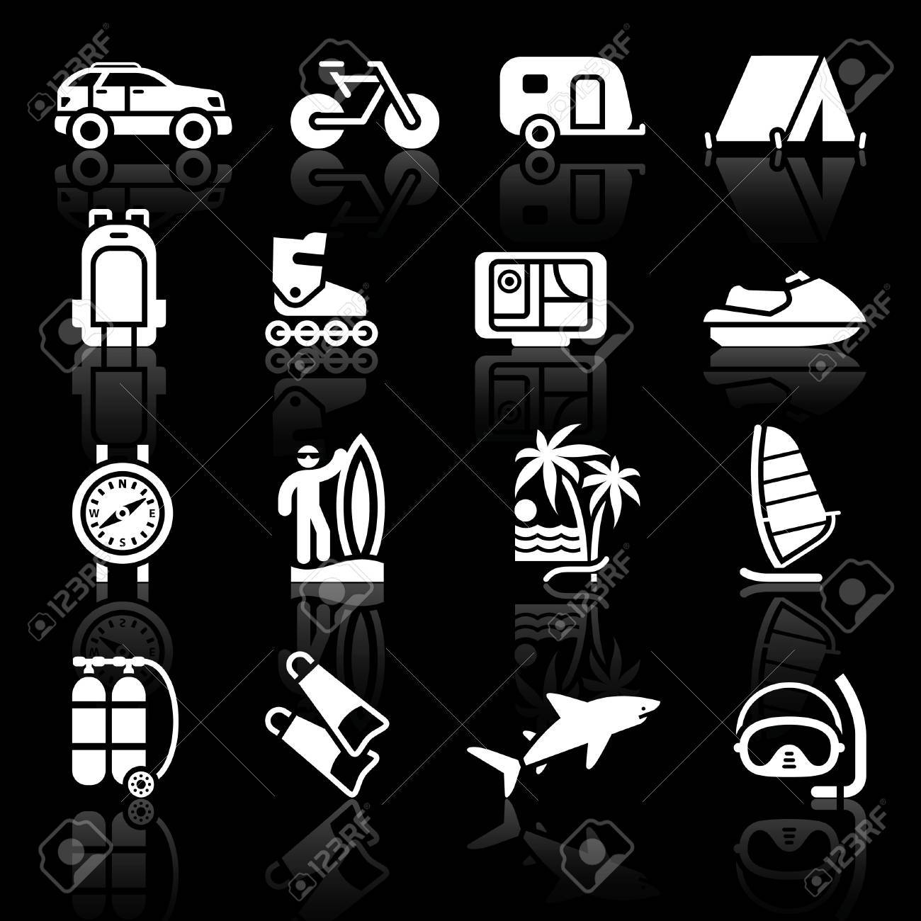 Tourism, Sport with reflection. Vector Stock Vector - 10612225