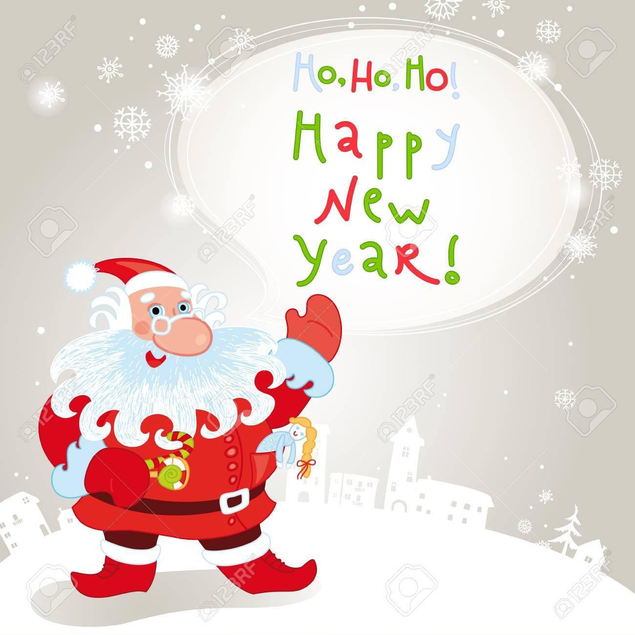 Santa claus greeting card 10eps Stock Vector - 11171828