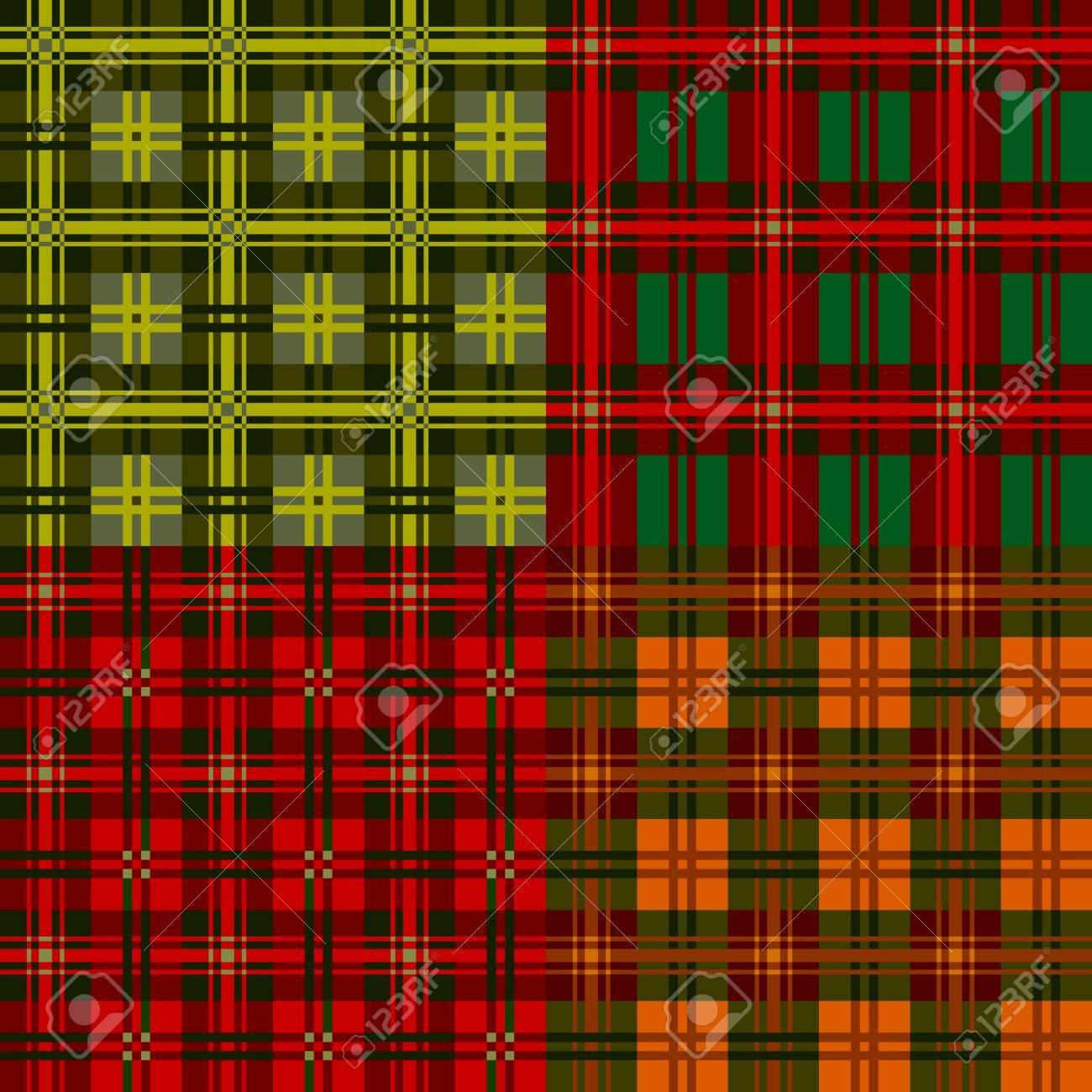 Set plaid patterns, tartan, vector designvel ement Stock Vector - 11171831