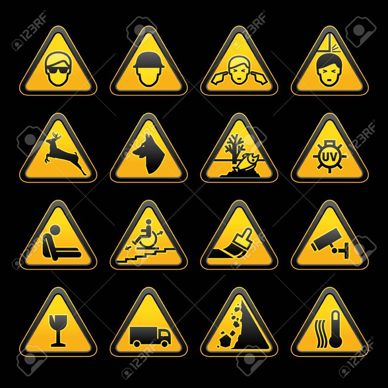 Warning symbols Safety signs set. Vector Stock Vector - 11531566