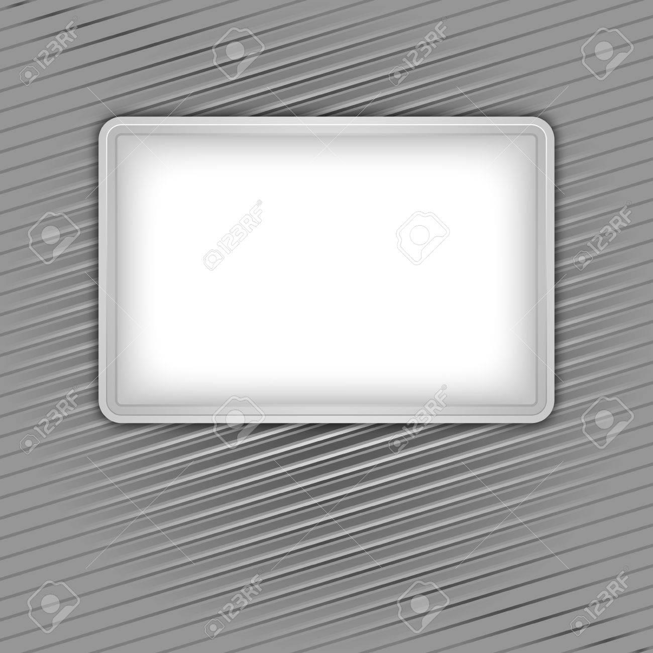 White blank shape on corduroy background Stock Vector - 12802596