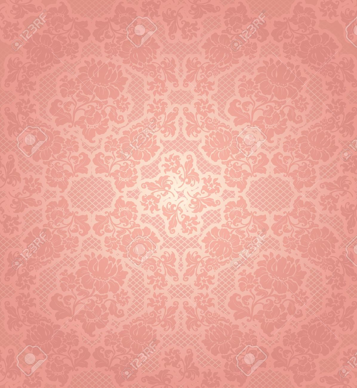 lace background ornamental pink flowers template royalty free
