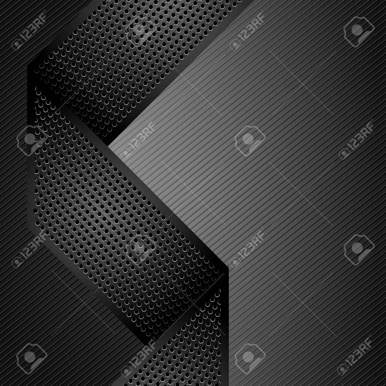 Metallic ribbons on gray corduroy background Stock Vector - 12802605
