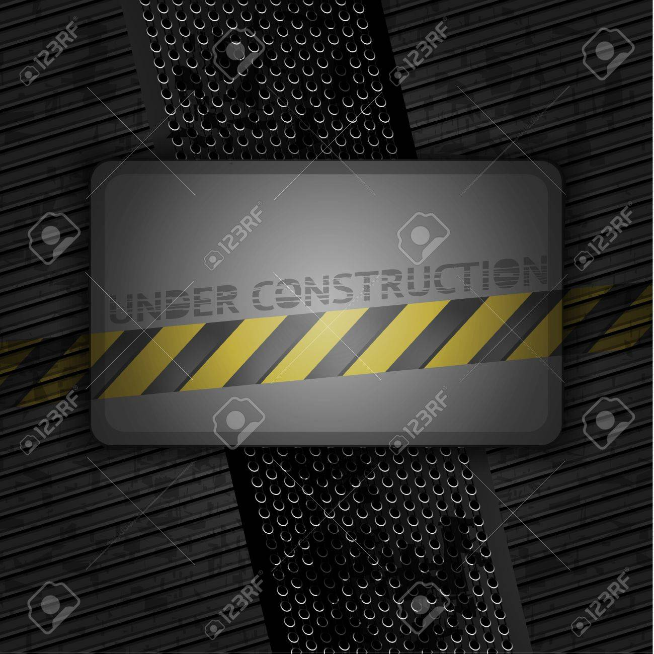 Metallic grunge background blank template  Vector 10eps Stock Vector - 12802625