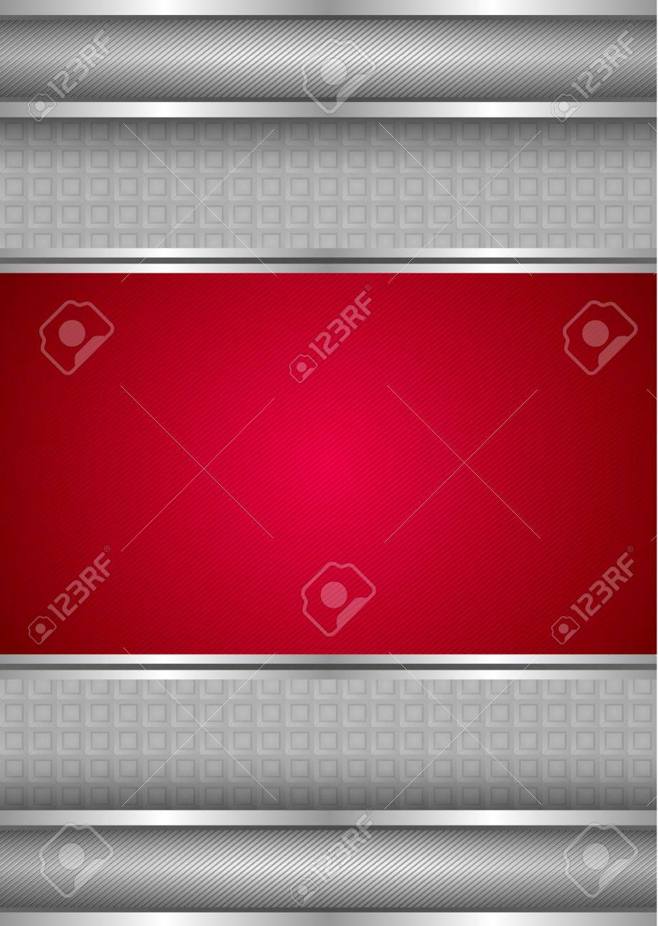 Background template, metallic texture, red blank Stock Vector - 12793507