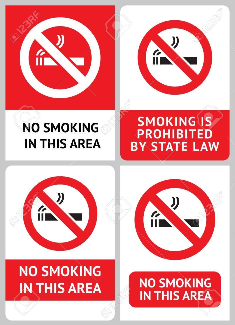 Label set No smoking Stock Vector - 12948957