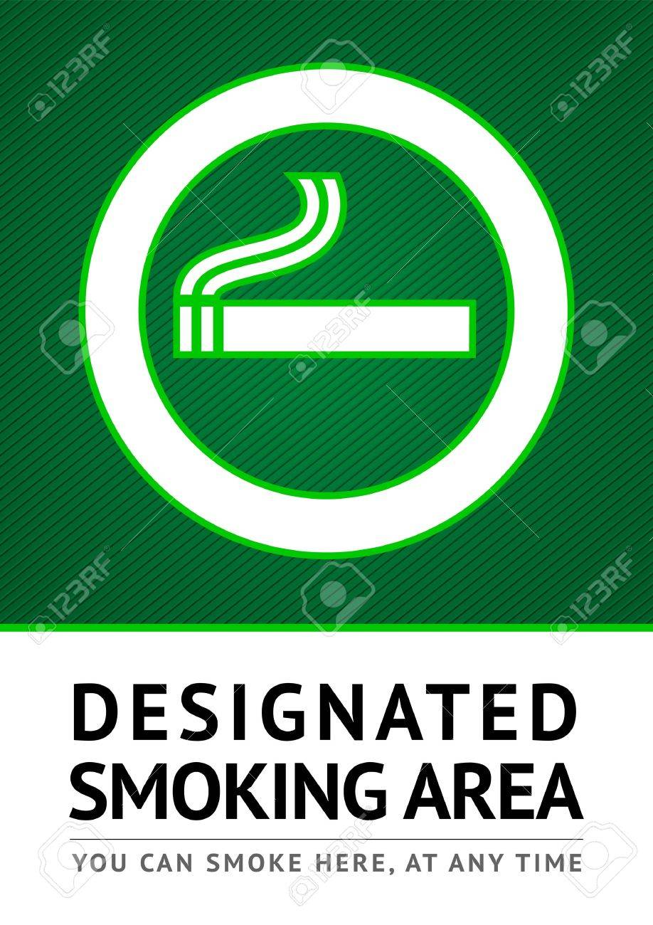 Label smoking place sticker Stock Vector - 13091192