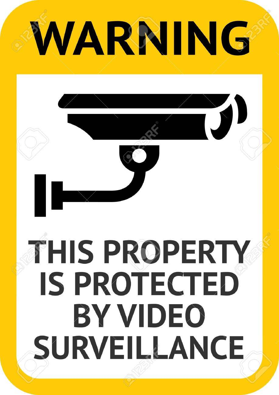 Notice Video Surveillance Stock Vector - 13177696
