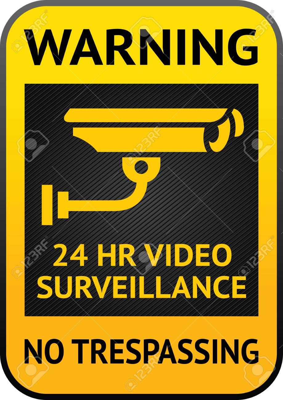 Video surveillance label Stock Vector - 13177697