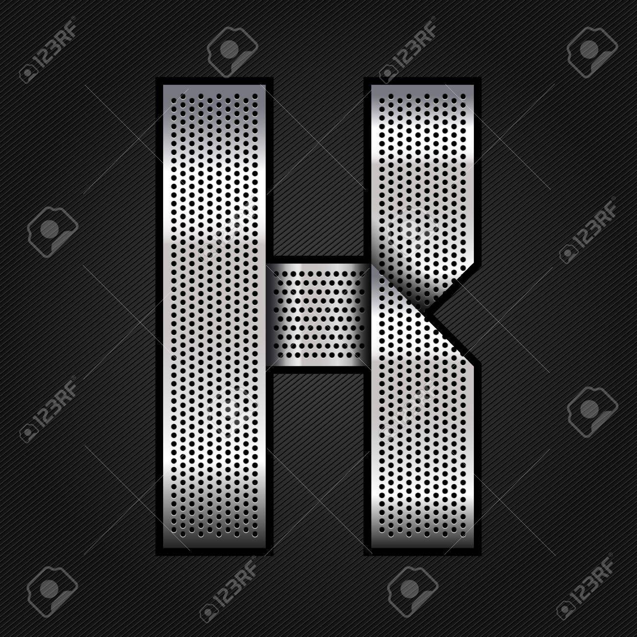 Letter metal chrome ribbon - K Stock Vector - 13823588