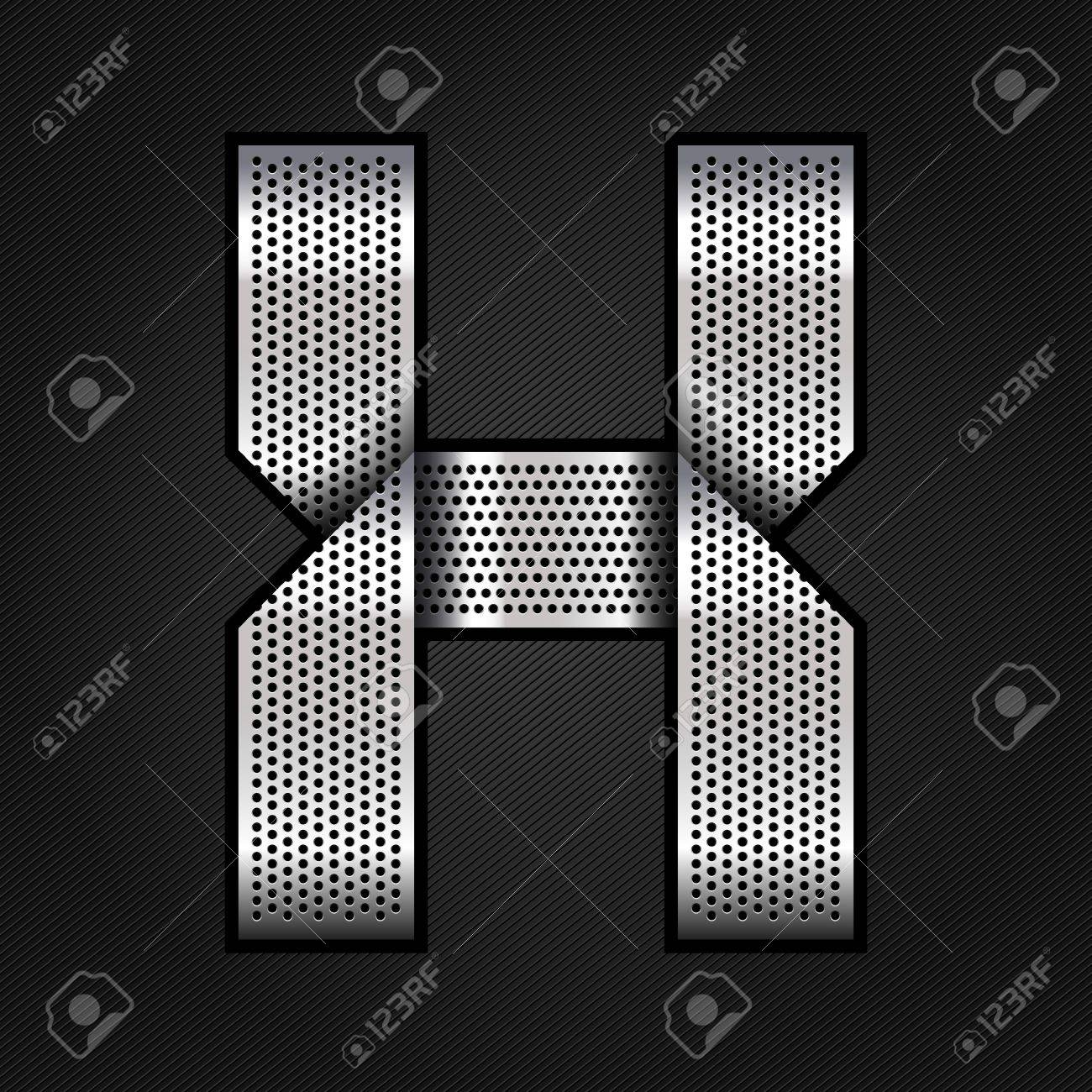 Letter metal chrome ribbon - X Stock Vector - 13823615