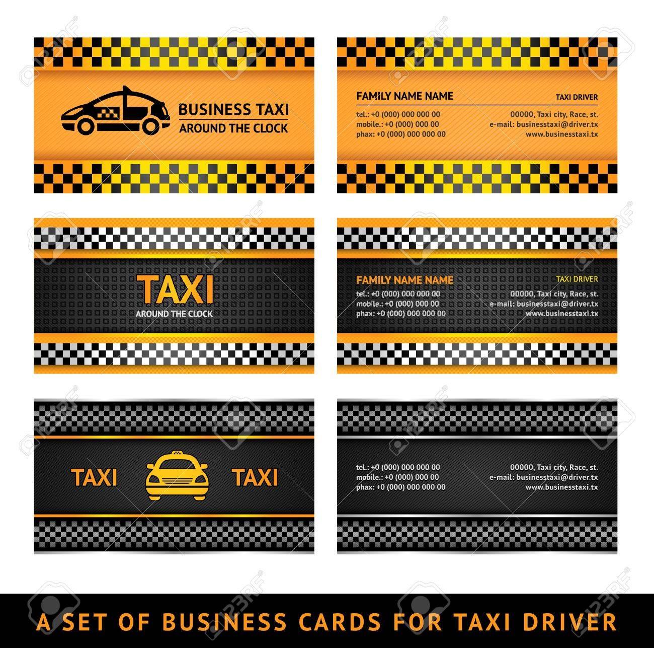 De Taxi Cartes Visite