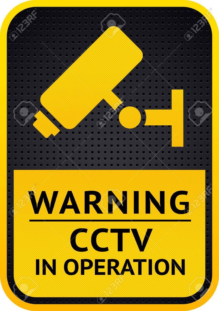 Video surveillance sticker Stock Vector - 15913439