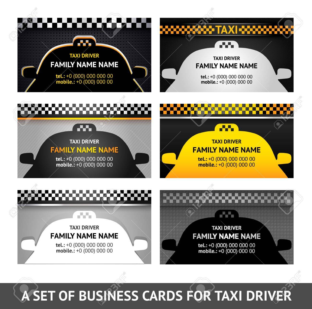 Business card taxi - fifth set Stock Vector - 16310570