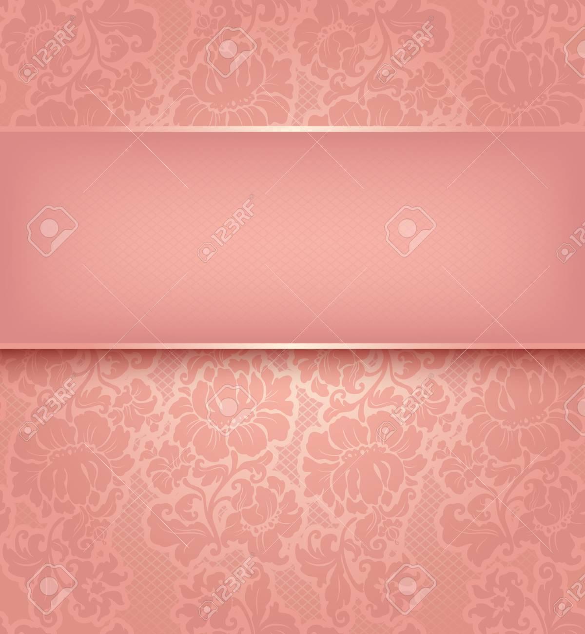 Decorative pink pattern - Vector illustration 10eps Stock Vector - 17115938