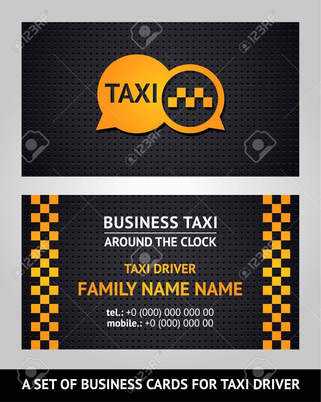 Business cards - taxi Stock Vector - 17696722