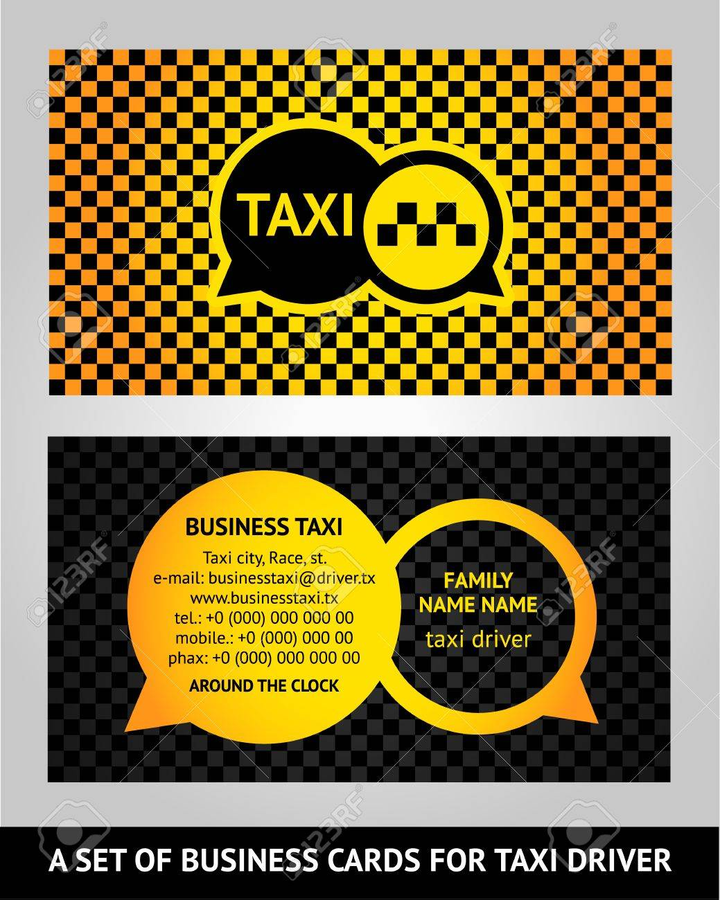 Visiting cards  taxi Stock Vector - 17696789