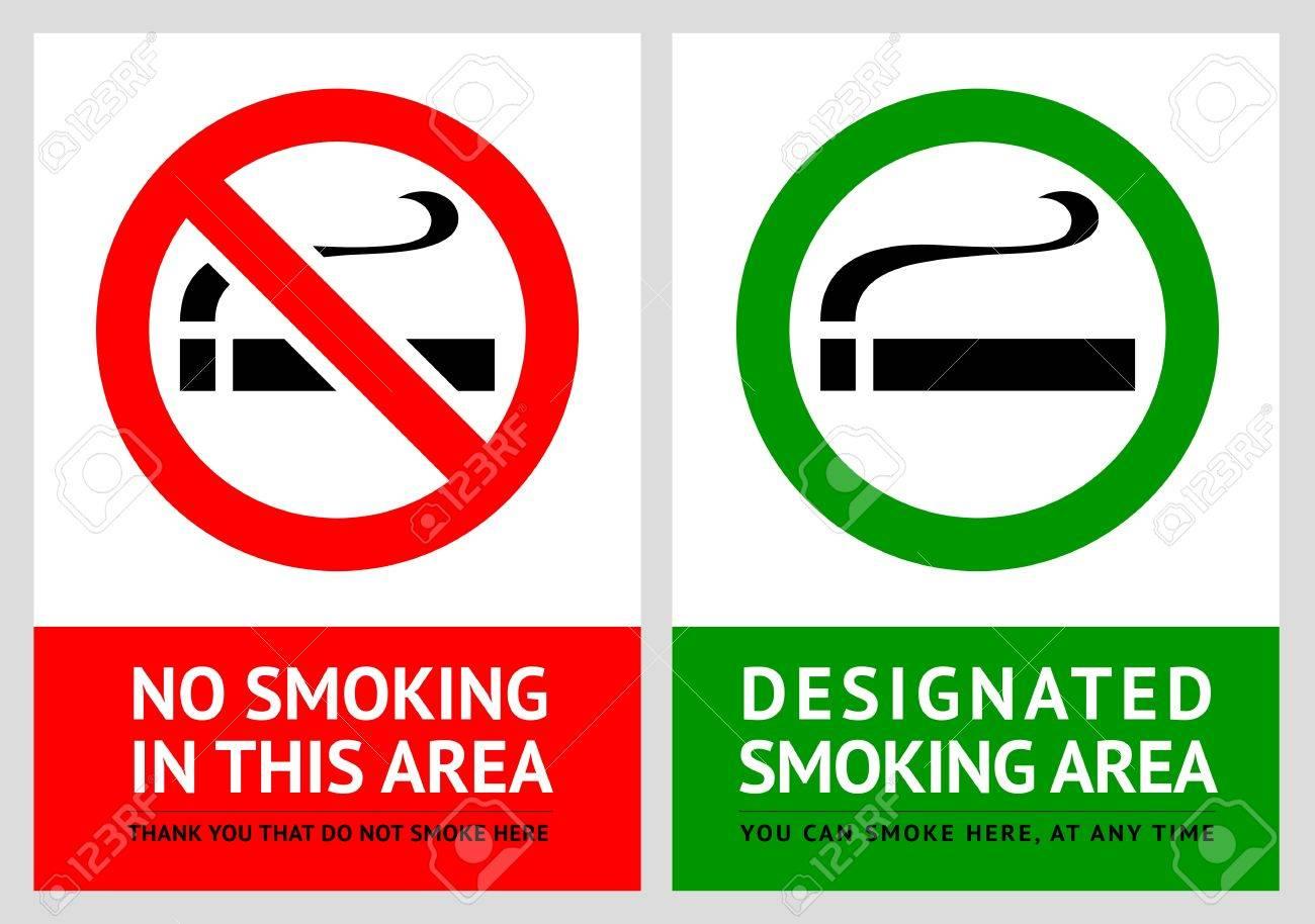 No smoking and Smoking area labels - Set 1 Stock Vector - 17696803
