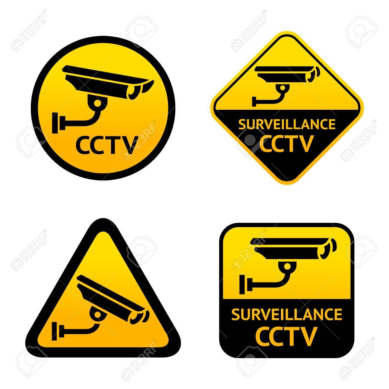 Video surveillance, set stickers Stock Vector - 17696273