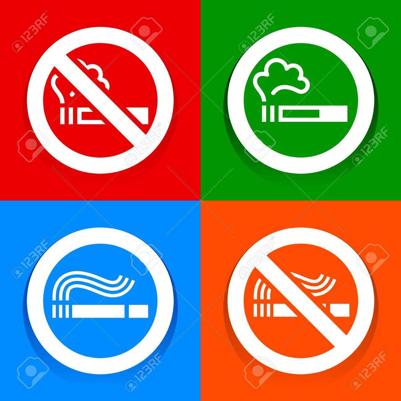 Stickers multicolored no smoking symbol royalty free cliparts stickers multicolored no smoking symbol stock vector 18238277 buycottarizona Images