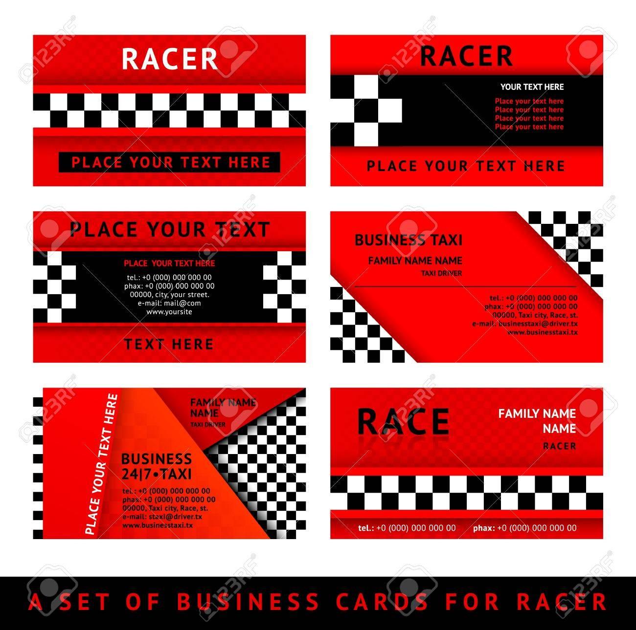 Business card driver race third set royalty free cliparts vetores banco de imagens business card driver race third set reheart Choice Image