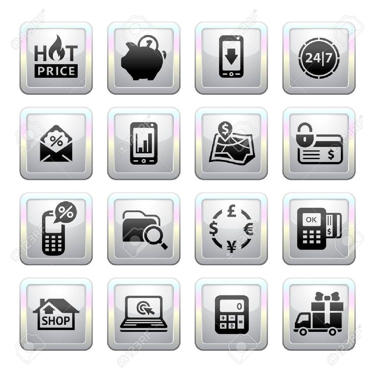 Shopping icons gray web 2 0 icons royalty free cliparts vectors shopping icons gray web 2 0 icons stock vector 19155905 sciox Gallery