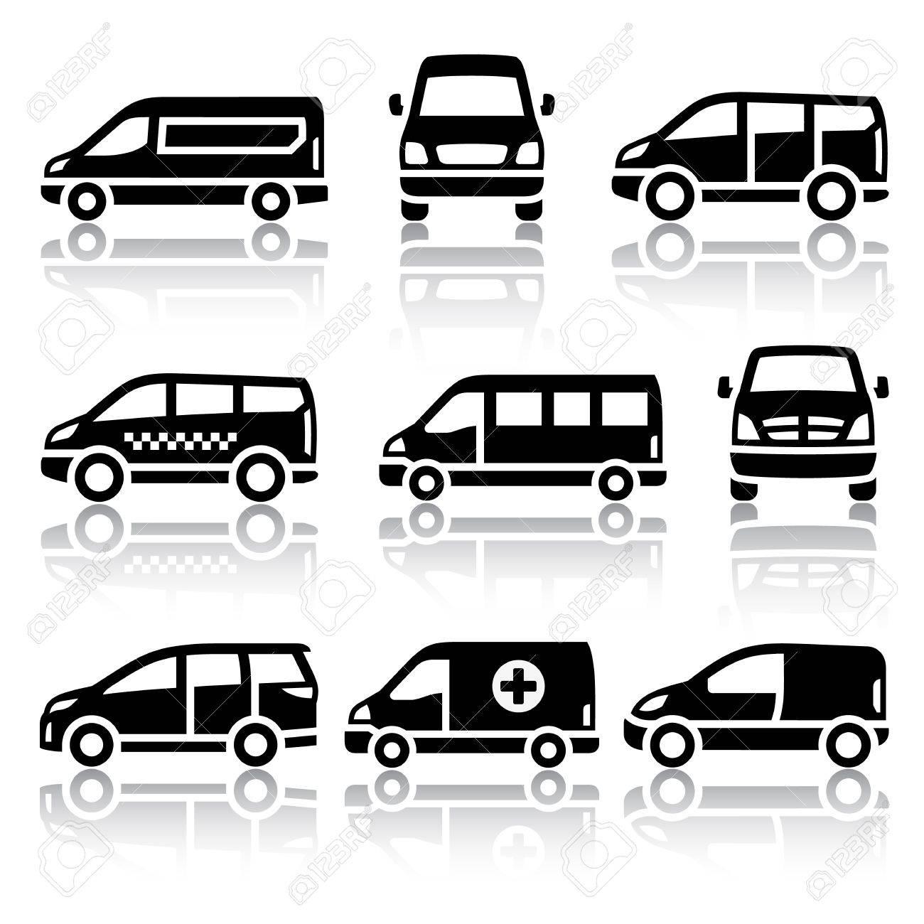 Set of transport icons - Van Stock Vector - 19490716