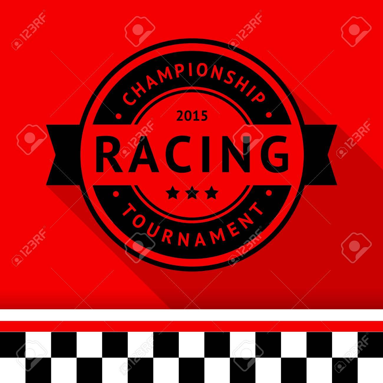 Racing stamp-15 illustration Stock Vector - 26703945