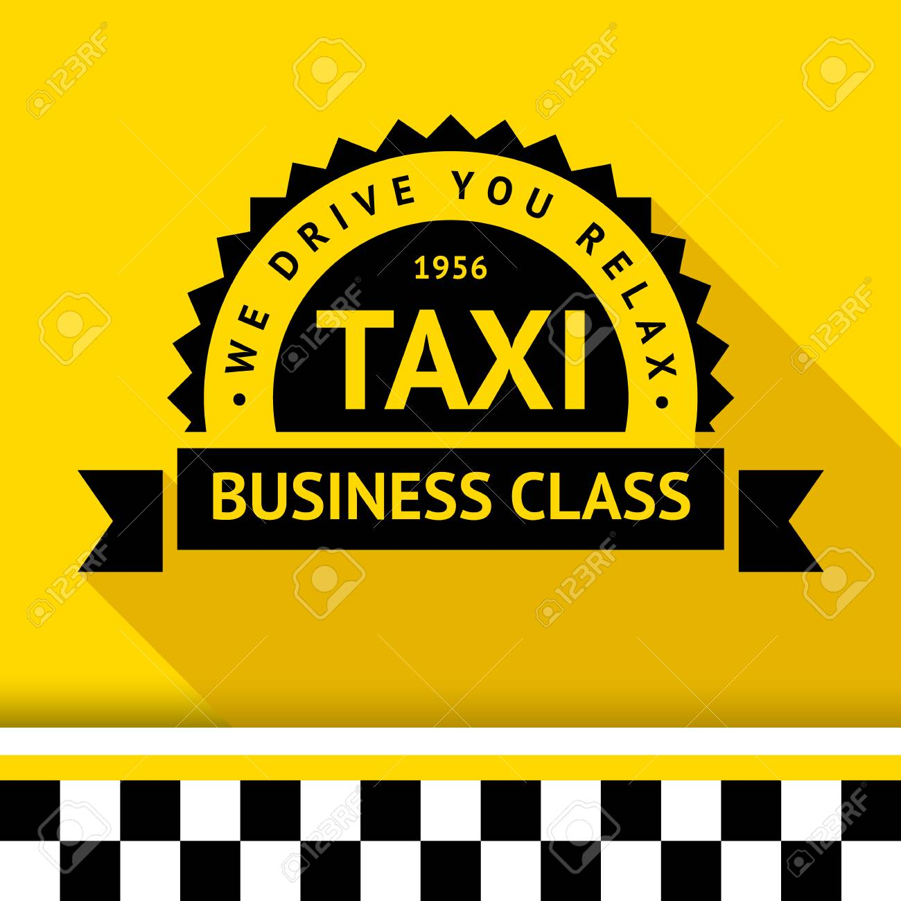 Taxi badge with shadow - 09 illustration Stock Vector - 26705114